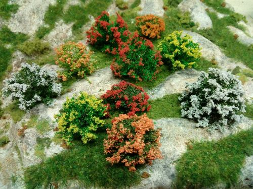 bushes in bloom -pack of 10 pieces